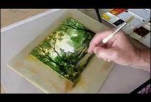 Akvarell táj videó