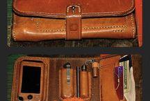 レザー携帯財布