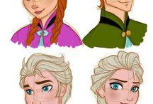 Disney // Frozen // Elsa and Anna