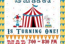(PARTY) Circus Birthday Party / Circus birthday party ideas, invitations, etc.