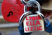 PRAGUE, Czech Republic / Love Lock: Hang on to what you love: Prague - Charles Bridge