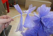 Plastic/ Recyclin/plastiek / Wat te doen met oude plastic tassen leuke dingen breien of haken .Goed voor het milieu en leuken beresterk. What can you do with plastic bags.