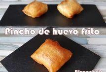 PINCHO DE HUEVO FRITO ............