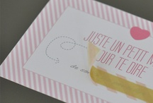 Faire-parts, lettres et invitations / by Mademoiselle Wa