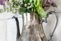 silver decor repurposed..