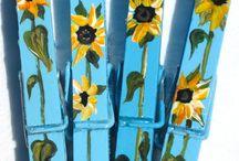 paintings on various things/Dipinti su cose varie