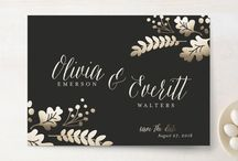 Gold Foil Wedding / Gold, silver, and rose gold inspired wedding ideas for your invitations and reception with Minted.com.