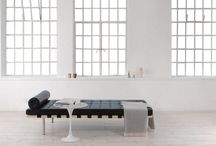 Barcelona Daybed Replica / The Barcelona Daybed Replica is our exquisite reproduction of Mies van der Rohe's Barcelona Daybed, also called the Exposition daybed or the Pavilion daybed. It combines an elegant, timeless design with the unmatched craftsmanship for which Manhattan Home Design is known. Made from the finest leather, this classic of Mid-Century Modernism fits seamlessly into most modern interiors. Mies van der Rohe is generally recognized as one of the founding fathers of Modernist architecture.