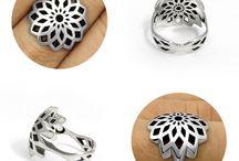 FIBONACCI / #fibonacci #sacredgeometry #mathematics #nature #goldenratio #ring #rings #silver #jewelry #jewellery #jewel #jewels #designer #design