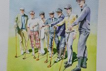 Golf players watercolours