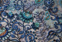 *turquesa y azul
