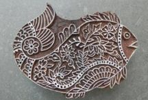 BLOCK PRINTING & STAMPS / Hand made stamps or block prints