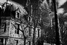 Les Crépuscules de Cendres ® / Photographies digitales concept en noir et blanc. Ludovic Mornand.