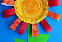 DIY Barn blommor / Kids flower crafts