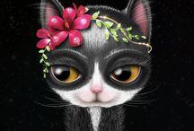 Gatos / ilustración