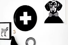 black and white home objects