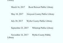Our Libraries / Giving you a chance to see what great and wonderful things all of our WGRL branches have going on! www.wythegrayson.lib.va.us