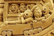 Most Bizarre sand art sculptures / Most Bizarre sand art sculptures