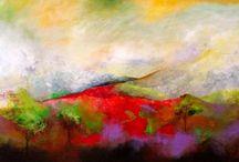 Arte en Paisajes / Pintura acrílico y mixta en lienzo