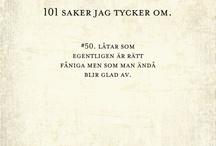 101 saker jag tycker om