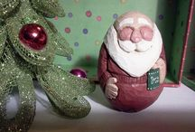 carved santas / by Loretta Broberg