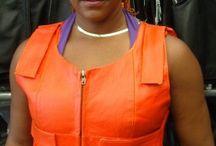 orange women bulletproof leather vest