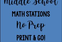 Middle School Math Stations / All about Middle School Math Station activities and creating a positive Math Station environment in your classroom.