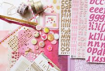 Star Bright Kit Inspiration / Inspiration to make a scrapbooking kit from your own stash in pink and gold colors. Read more at www.UseYourStash.com
