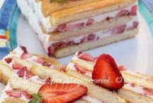 torta semifreddo panna e fragole