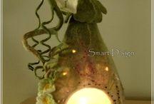 валяный светильник
