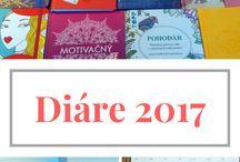 Recenzia diárov 2017 / Prehľad diárov pre rok 2017, ktoré sú v ponuke v kníhkupectvách a papierníctvach.