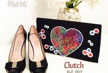 Clutch / bolsos de mano / Clutch Pixi  Productos desarrollados con pasión y dedicación. Sus modelos son únicos, exclusivos, originales y siempre de vanguardia.