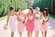 Ombré themed / Like the idea of multi colored bridesmaids? We can help you choose the perfect color palette!