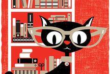 Screenprints Cats