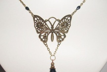 Butterfly and dragonfly necklace