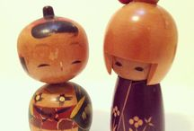 Kokeshi dolls (vintage) / My childhood love of Kokeshi dolls came to me through my grandmother who bought many home after a trip to Japan when she was younger. I used to look at those dolls endlessly and wish they were mine :)