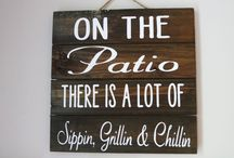 back porch wooden signs