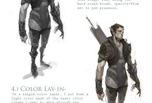 Characters - Step by Step - Concept Art tutorials / Tutorials | Step by step | Concept art | illustration | Digital art | Painting | Drawing | Sketches | Characters | Story | Scene | Game | Film | Fantasy | Sci-fi | Post apocalyptic | Conceptart | Photoshop | 2d 3d | Artist |