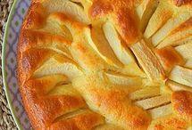 gâteau  aux  pommes  et mascarpone  et yaourt fondant
