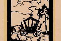 Der Froschkönig / Scherenschnitt-Postkarten