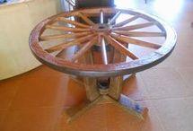 Roda de carroça reaproveitada