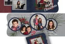 Folded holiday photo greeting cards