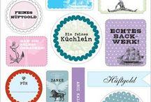 Etiketten und Vorlagen / Zur Verschönerung und Verzierung