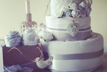 Vintage Inspired Nappy / Diaper Cakes