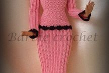 horgolt barbie ruhák