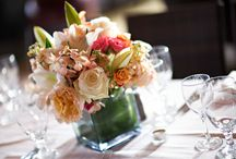 Centerpieces- Light and Romantic / Floral decor in lighter, pastel colors