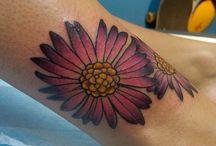 Michaelmas-daisy tattoo