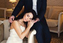 Позировка для свадебной фотосессии
