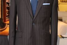 "Brown stipe suit Fintes ""Vantage"" 130's / https://www.facebook.com/media/set/?set=a.10152125945474844.1073742065.94355784843&type=1  #madetomeasure #mtm #suit #fintes #brownsuit"