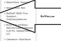"BarWhat? 10000+ Trivia Questions ""#1"" Games/Music (Grammy) Trivia app new release! / PRESS RELEASE: 10.7.2014 - Hollywood, California. BarWhat? 10000+ Trivia Questions app surges onto the world stage and is ranked #1 in Ireland for the Apple App store's Games/Music category (Grammy music, Tony Awards). BarWhat? 10000+ Trivia Questions is also ranked in three other nations including the USA, Canada, and China! Download at the APPLE store here: https://itunes.apple.com/us/app/barwhat-10000+-trivia-questions!/id918869416?mt=8"